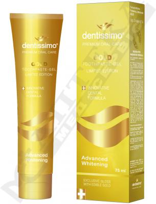 Зубная паста Dentissimo Advanced Whitening Gold 75 мл