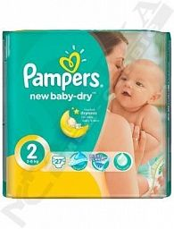 *Подгузники Pampers BABY-DRY PLUS мини №27