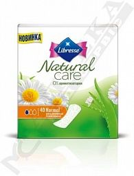 Прокладки Libresse Ежедневные Natural Care Pantyliners Normal №40